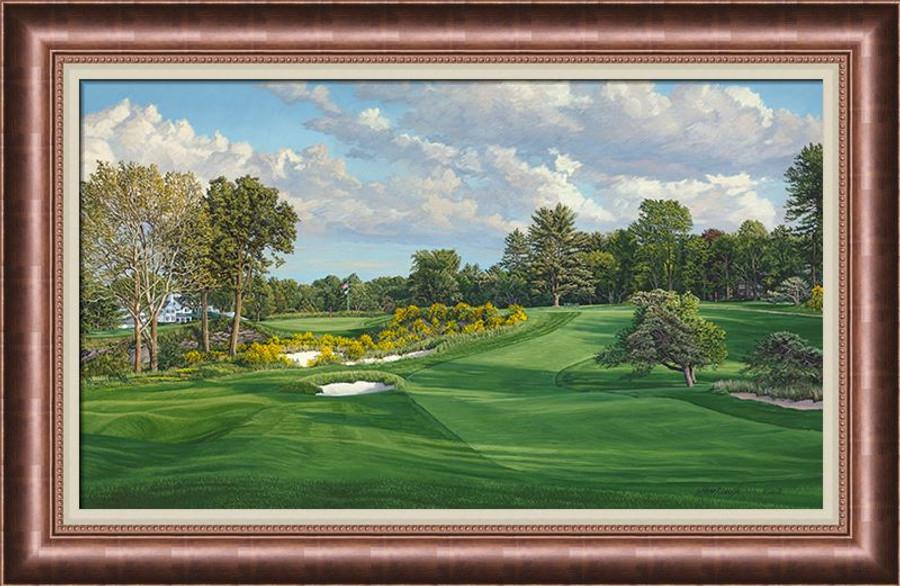 Merion Golf Club 16th Hole, East Course - Canvas Framed