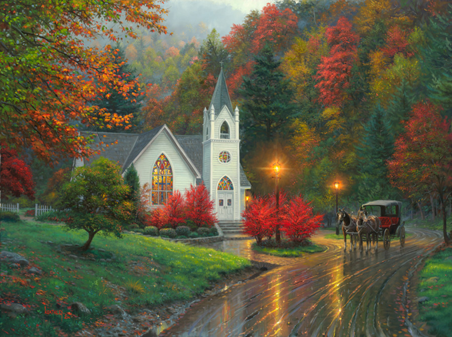 Autumn Chapel by Mark Keathey