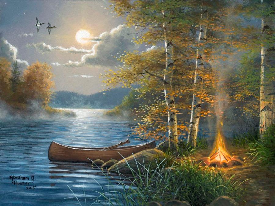 Moonlit Camp