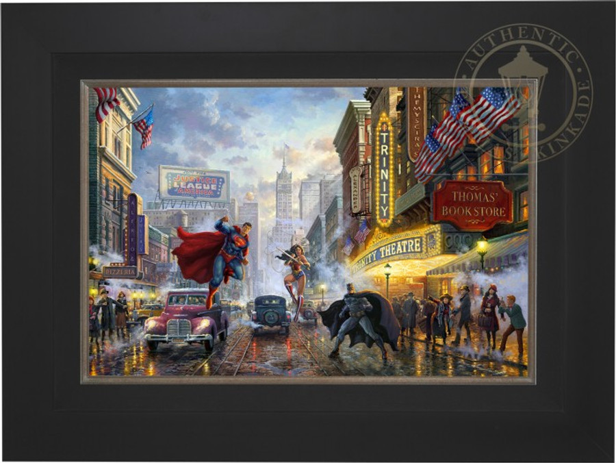 Batman, Superman and Wonder Woman by Thomas Kinkade Studios