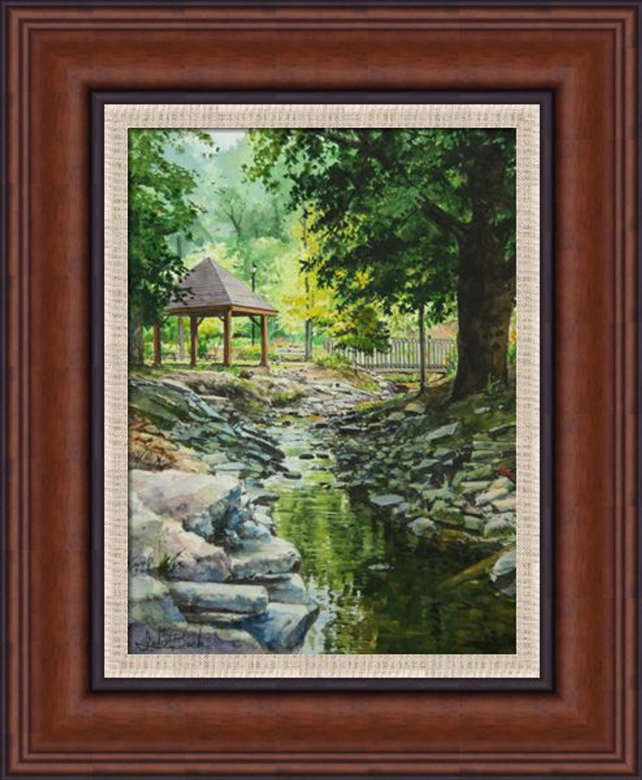 Fuquay Mineral Springs giclee  canvas framed