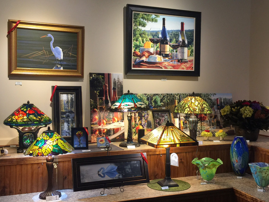 Ashley's Tiffany Style Art Glass Table Lamps