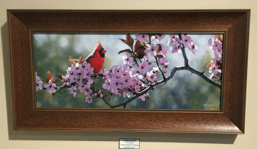 Cardinal painting by Terry Isaac