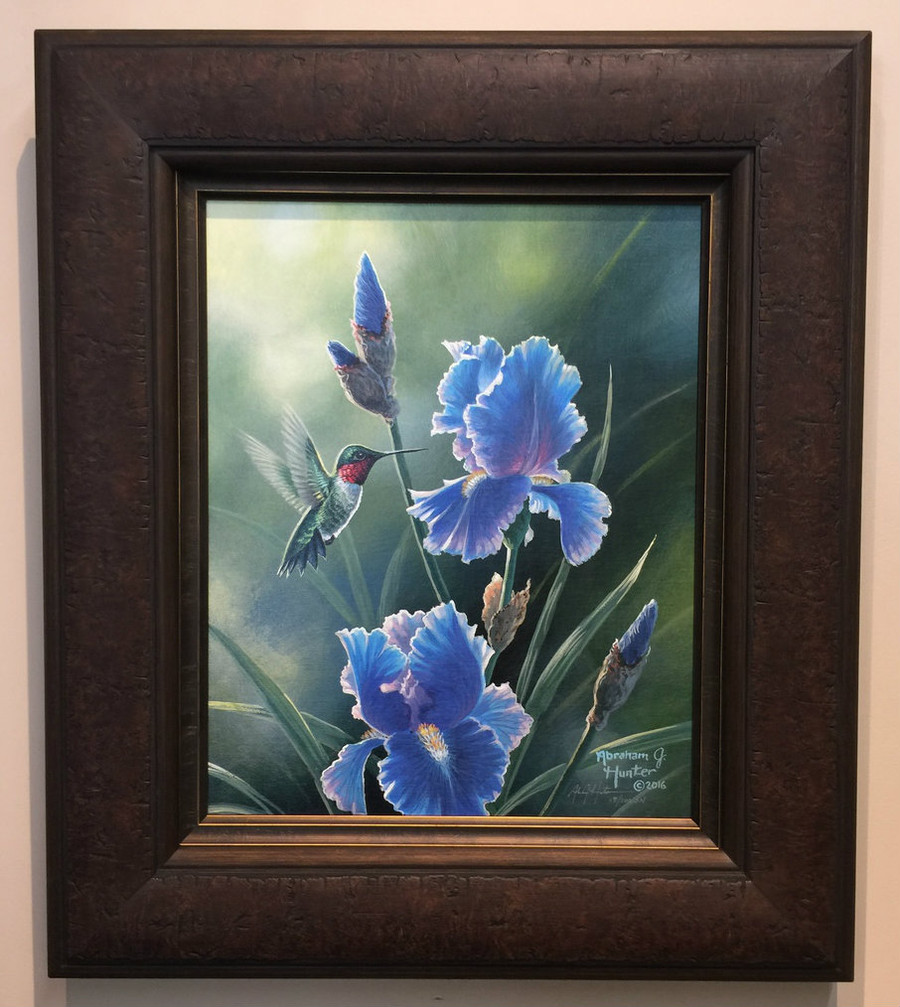 Grandma's Garden, Abraham Hunter framed