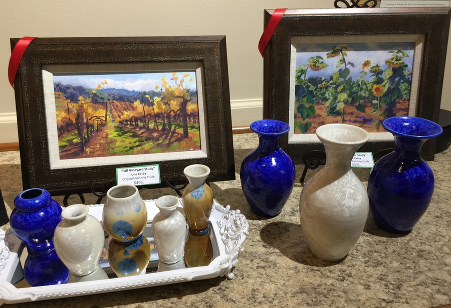 collection of Phil Morgan pottery