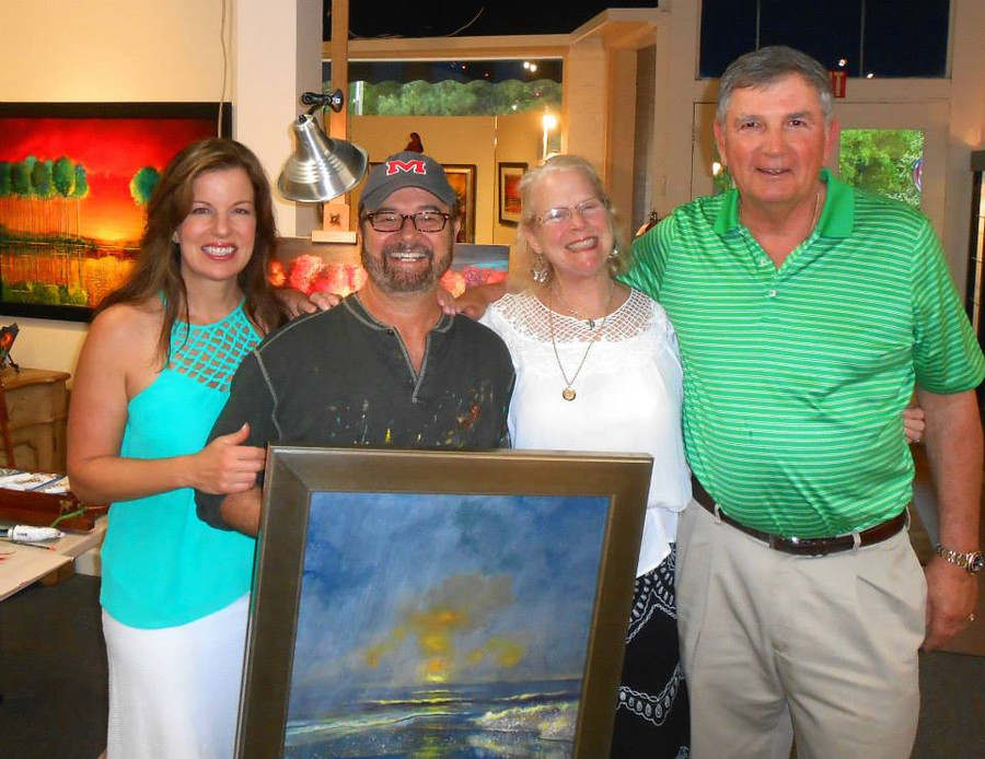 artist Ford Smith with F-V mayor John Byrne and his wife Patti.