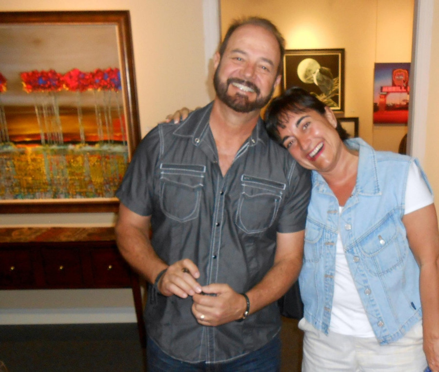 A avid Ford Smith fan meets the artist at Ashley's Art Gallery