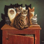 Domestic cat art by Braldt Bralds