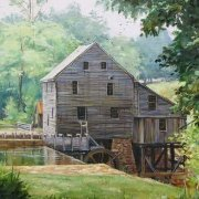 Yates Mill Raleigh NC by Luke Buck