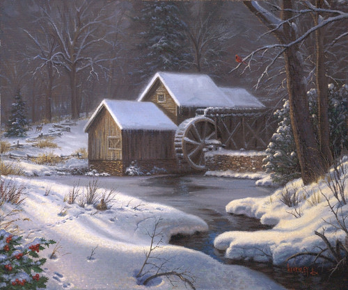 Closed for the Holidays, Mark Keathley original painting ...