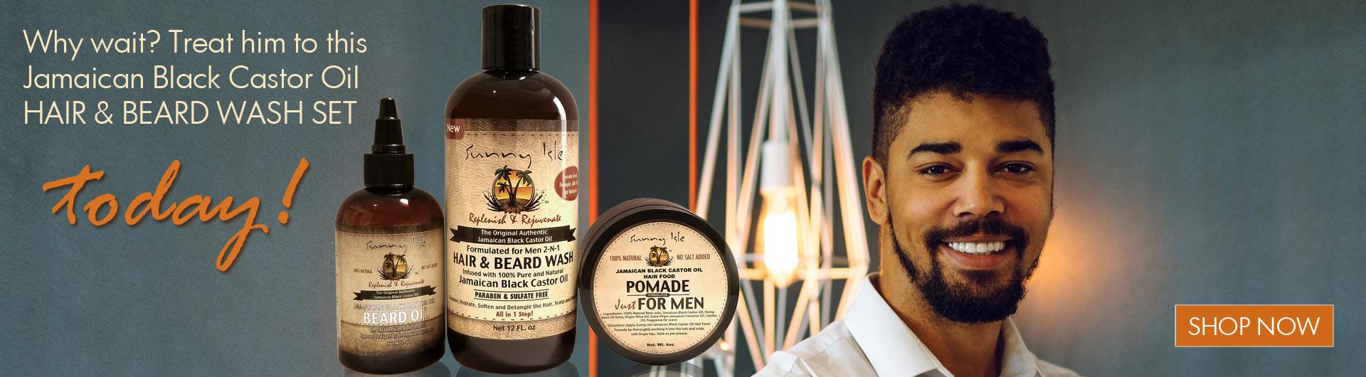 Sunny Isle JBCO Beard Oil Set at JamaicanOils