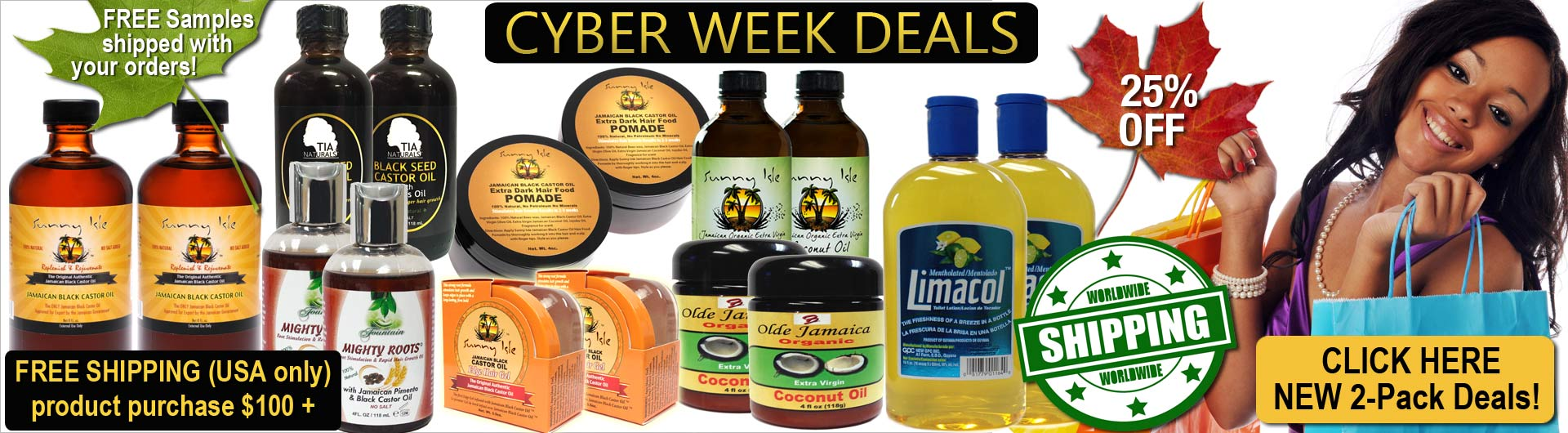 Cyber Deals continue at JamaicanOils