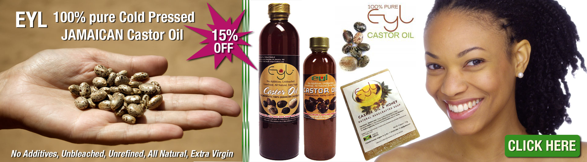 Eyl 100% Cold Pressed Castor Oil