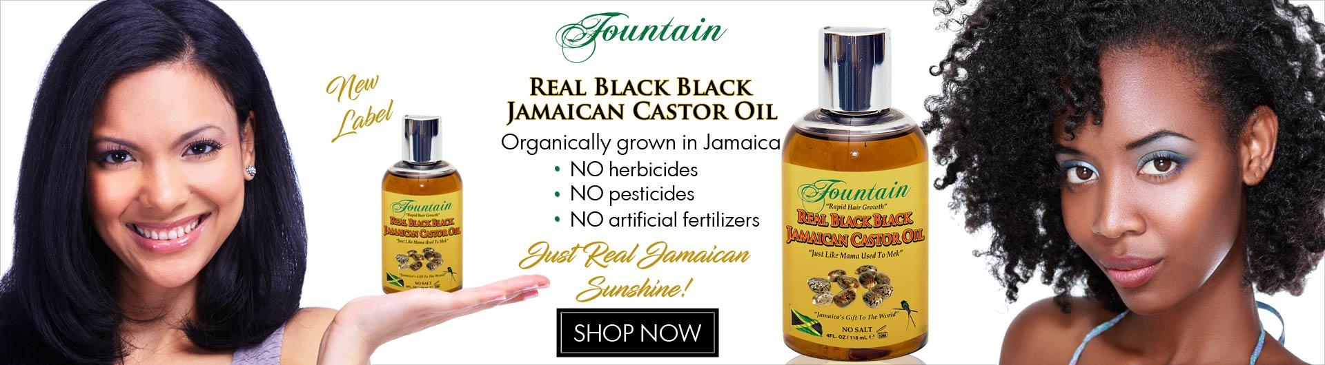 Fountain Real Black Black Jamaican Castor Oil 4oz
