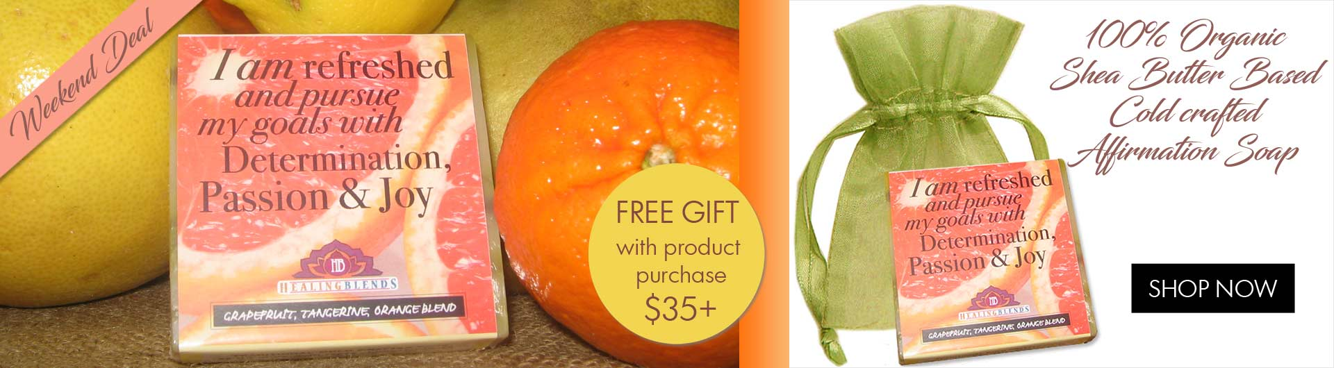 Grapefruit, Tangerine and Orange Affirmation Soap