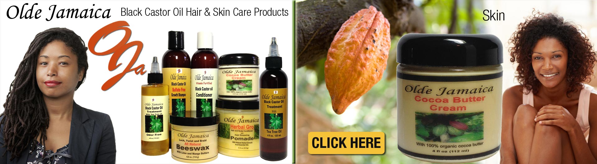 Shop Olde Jamaica all natural beauty products