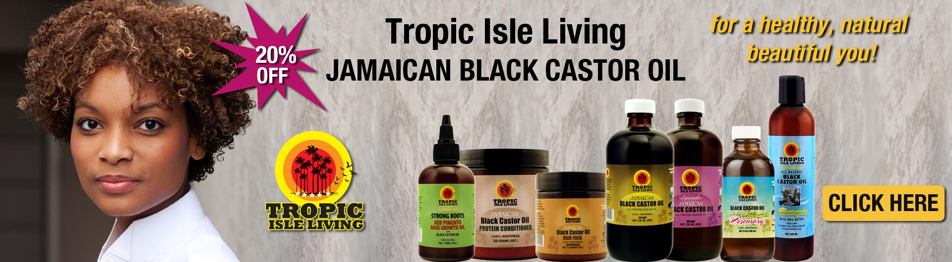 Tropic Isle Living JBCO for a healthy,  natural beautiful you!