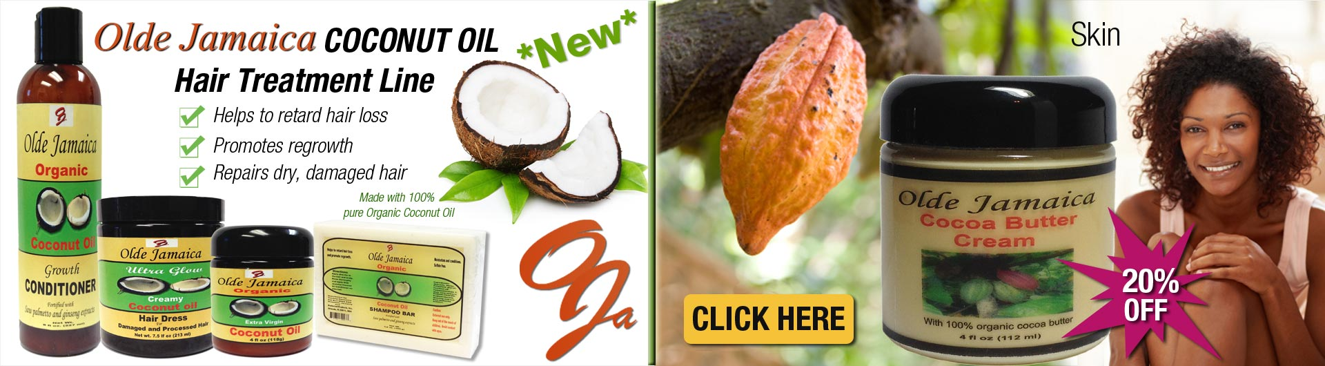 Check out Olde Jamaica's NEW Coconut Oil Hair Treatment line