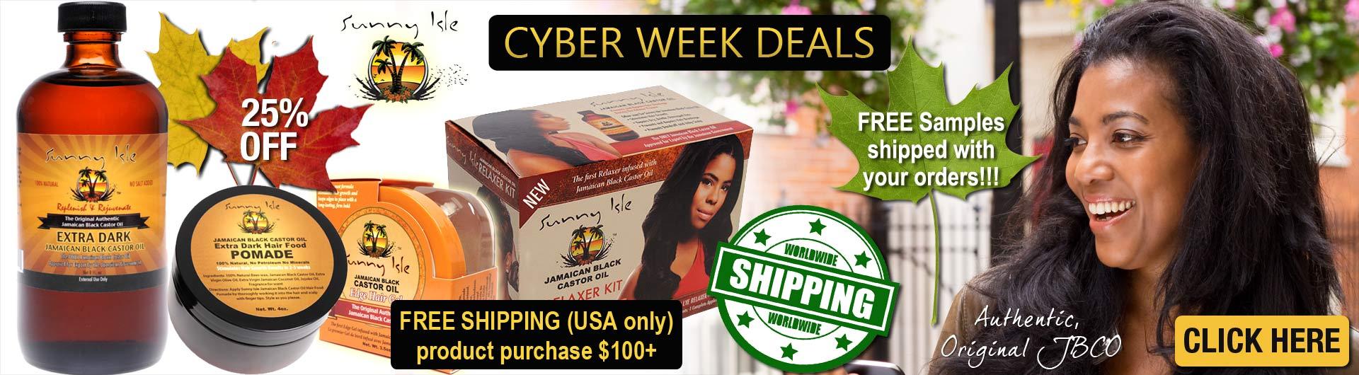 Sunny Isle Cyber Deals at JamaicanOils