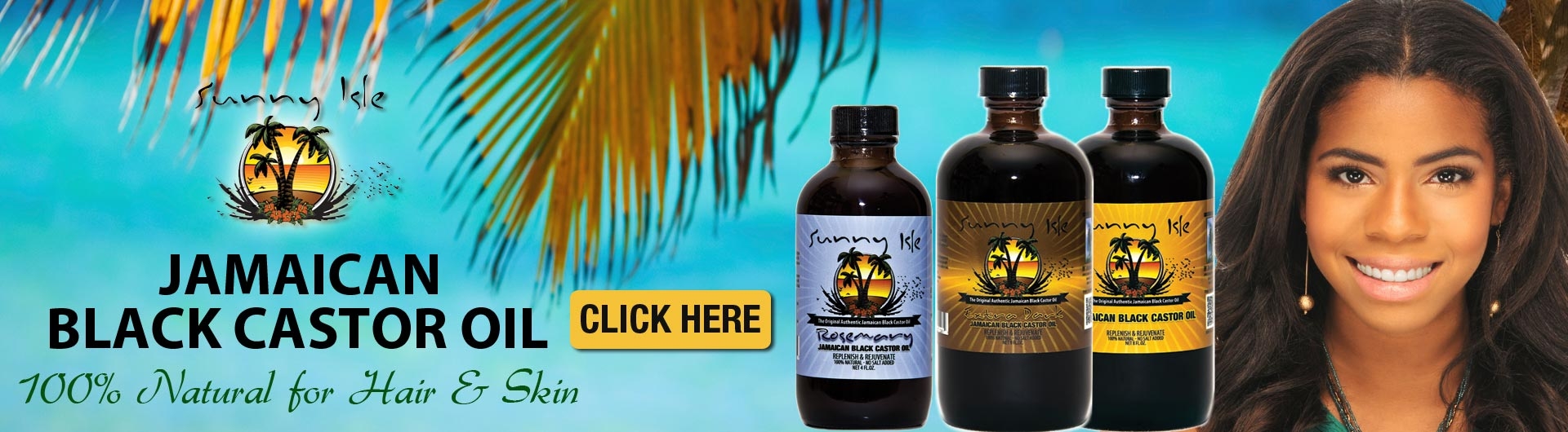 Sunny Isle authentic Jamaican Black Castor Oil available at JamaicanProductsUSA.com