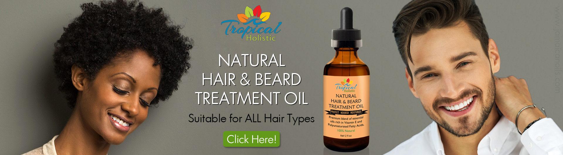 100% Pure Natural Hair & Beard Treatment Oil