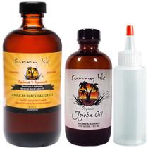 Sunny Isle JBCO 8oz with Jojoba Oil 4oz and Applicator Bottle
