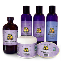 Sunny Isle Lavender Jamaican Black Castor Oil Hair and Skin Care Kit