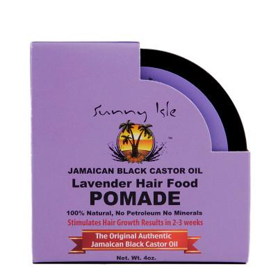 Sunny Isle Jamaican Black Castor Oil Lavender Hair Food Pomade 4Oz