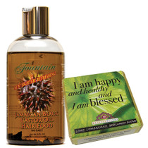Fountain Jamaican Black Castor Oil Hair Food and Lemongrass Affirmation Soap Combo