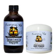 Sunny Isle Rosemary Jamaican Black Castor Oil 4OZ and Hair Pomade Combo