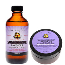 Sunny Isle Lavender Jamaican Black Castor Oil 4OZ and Hair Pomade Combo
