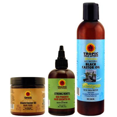 Tropic Isle Living Jamaican Black Castor Oil Hair Care System for Dread Locks