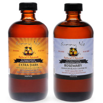 Sunny Isle Extra Dark and Rosemary Jamaican Black Castor Oil 8 Oz COMBO