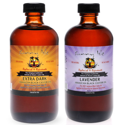 Sunny Isle Extra Dark and Lavender Jamaican Black Castor Oil 8oz COMBO