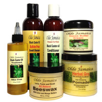 Olde Jamaica Black Castor Oil Hair and Skin Care Combo for Dreads