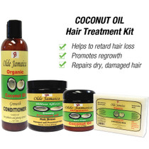 Olde Jamaica COCONUT OIL Hair Treatment Kit