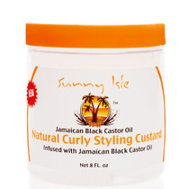 Sunny Isle JBCO Natural Curly Styling Custard 8Oz