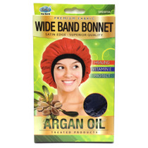Organic Argan Oil Treated Wide Band Bonnet