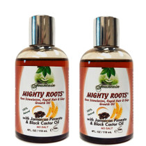 Fountain Mighty Roots with Jamaican Pimento and Black Castor Oil 4oz 2-Pack