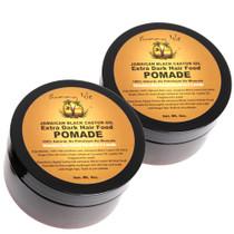 Sunny Isle Jamaican Black Castor Oil EXTRA DARK Hair Food Pomade 4Oz 2-Pack