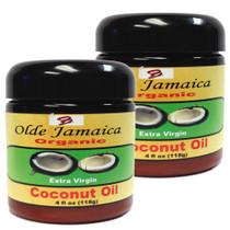 Olde Jamaica Extra Virgin Organic Coconut Oil 4 oz 2-Pack