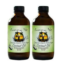 Sunny Isle Jamaican Organic Extra Virgin Coconut Oil 4oz 2-Pack