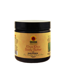 Tropic Isle Living Khus Khus Body Butter with Black Castor Oil 4oz
