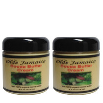 Olde Jamaica Cocoa Butter Cream with 100% organic cocoa butter 4oz 2-PACK