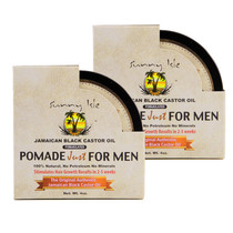 Sunny Isle Jamaican Black Castor Oil Hair Food Pomade Formulated Just for Men 4Oz 2-Pack.