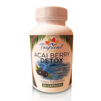 Tropical Holistic Acai Berry Detox Dietary Supplement 60 Capsules
