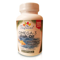 Tropical Holistic Omega-3 Fish Oil Dietary Supplement 60 Softgels