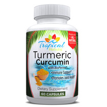 Tropical Holistic Turmeric Curcumin Dietary Supplement 60 Capsules