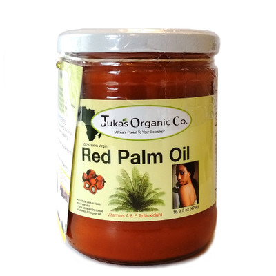 Juka's Organic African Red Palm Oil 16oz