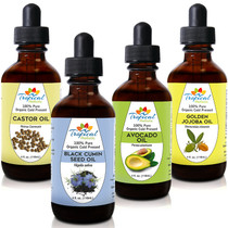 Tropical Holistic 100% Pure Organic Cold Pressed Oils 4oz Variety 4-Pack1